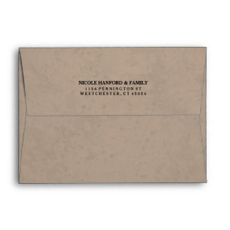 Brow & Black Custom Graduation Invitation Envelope