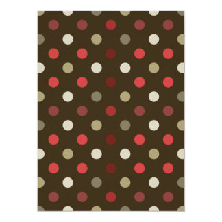 Brow Red and White Polk-a-dot Card