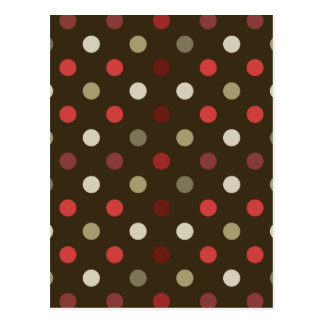 Brow Red and White Polk-a-dot Postcard