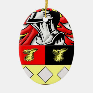 Browder Coat of Arms Ceramic Ornament
