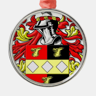 Browder Coat of Arms Metal Ornament