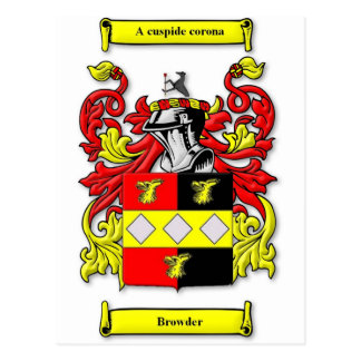 Browder Coat of Arms Postcard