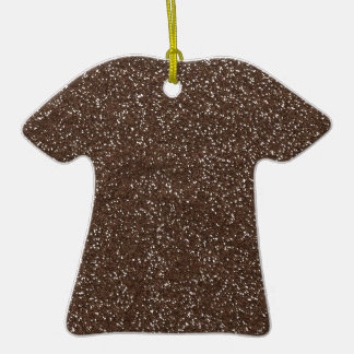 brown1 BEE MINE BROWN GLITTER TEXTURE BACKGROUND T Christmas Tree Ornaments