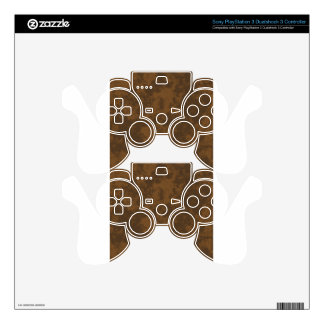 Brown1 Soft Grunge Design Skins For PS3 Controllers