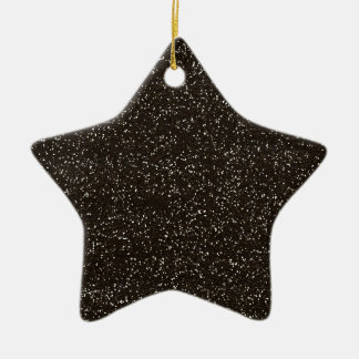 brown2 BEE MINE BROWN GLITTER TEXTURE BACKGROUND T Christmas Tree Ornament