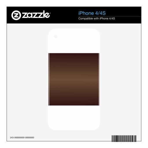 Brown3 horizontales - Pendiente de Brown del café  iPhone 4S Skins