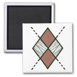 Brown-002 Argyle 2 Inch Square Magnet