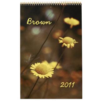 Brown 2011 calendar