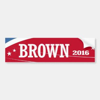 BROWN 2016 CAR BUMPER STICKER