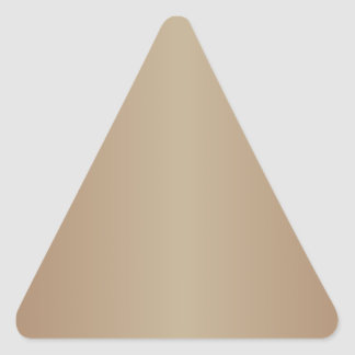 Brown 2 - Chamoisee and Khaki Gradient Triangle Sticker