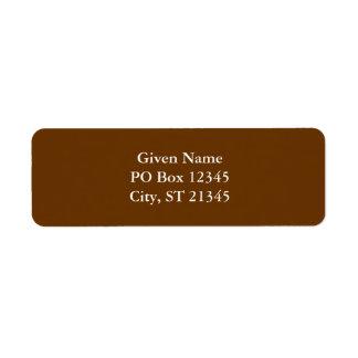 Brown 663300 etiqueta de remitente