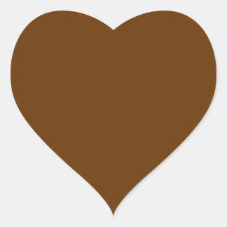 Brown 663300 pegatina en forma de corazón