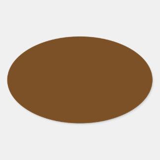 Brown 663300 pegatina ovalada