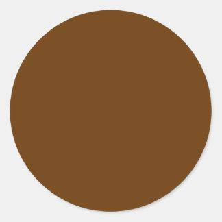 Brown 663300 pegatina redonda