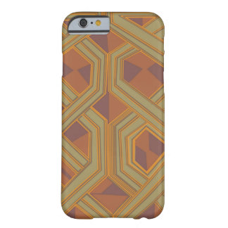 Brown abstract African art Barely There iPhone 6 Case