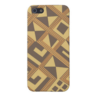 Brown abstract African art Cover For iPhone SE/5/5s