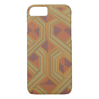 Brown abstract African art iPhone 8/7 Case