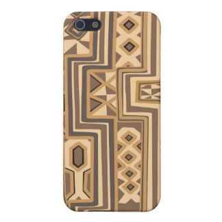 Brown abstract African art iPhone SE/5/5s Case