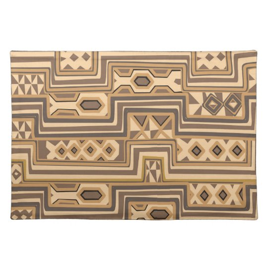 Brown abstract African art Placemat