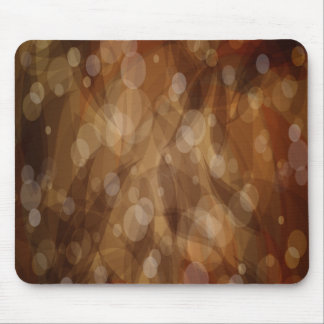 Brown Abstract Art Mouse Pad