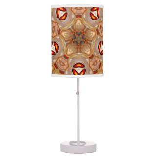 Brown abstract colorburst accent table lamp