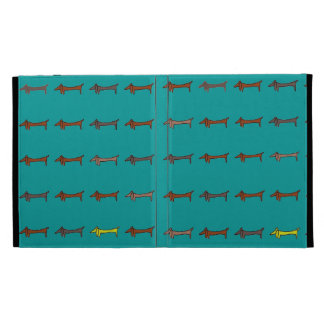 Brown Abstract Dachshund Dogs iPad Folio Cases