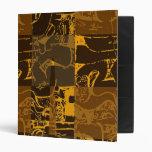 Brown abstract design vinyl binders