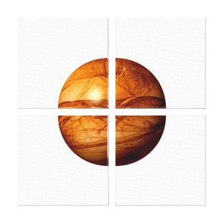 Brown Abstract Globe
