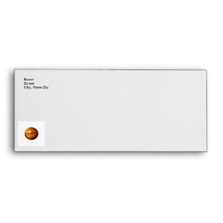 Brown Abstract Globe Envelope