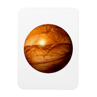 Brown Abstract Globe Magnet