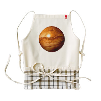 Brown Abstract Globe Zazzle HEART Apron