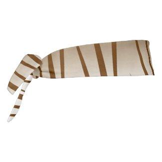 Brown Abstract Grass Grain Pattern Tie Headband