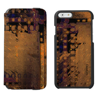 Brown Abstract iPhone 6 Wallet Case