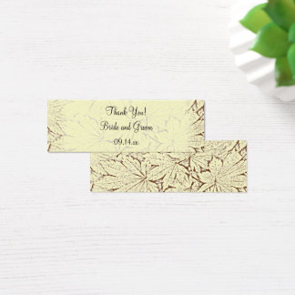 Brown Abstract Maple Leaves Fall Wedding Favor Tag