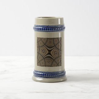 Brown abstract pattern 18 oz beer stein