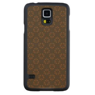 Brown abstract pattern carved® maple galaxy s5 slim case