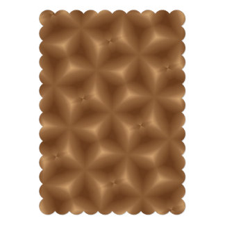 Brown abstract pattern custom invite