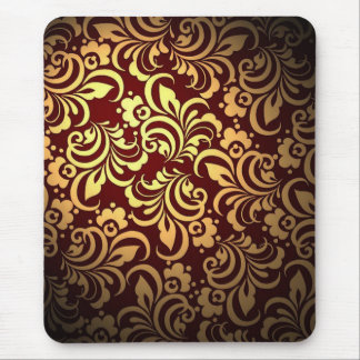 Brown abstract pattern mouse pad