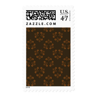 Brown abstract pattern postage stamp