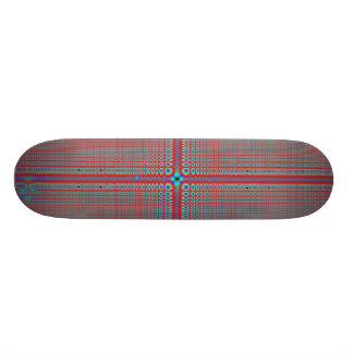 Brown Abstract  Pattern Skateboard