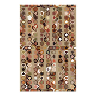 Brown Abstract Pattern Stationery Paper