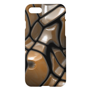 Brown Abstract Sea Design iPhone 7 Case