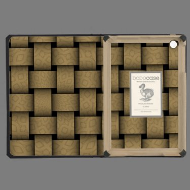 Brown abstract weave pattern iPad mini case