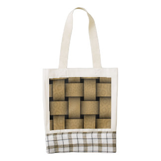 Brown abstract weave pattern zazzle HEART tote bag