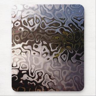 Brown abstracto, gris, Mousepad blanco Alfombrillas De Ratón