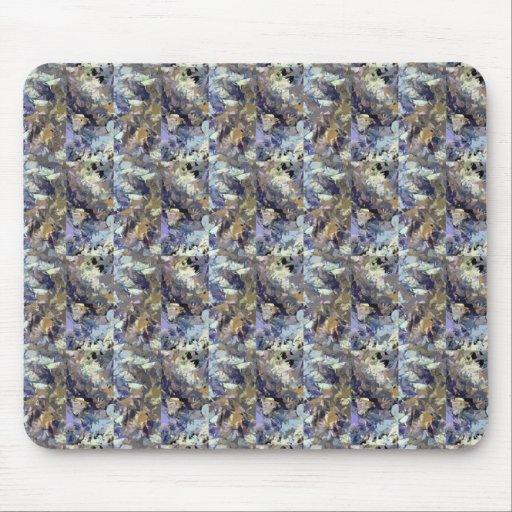 Brown abstracto y modelo púrpura tapetes de ratones