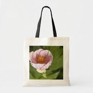 Brown Abutilon Species Flowering Maple flowers Tote Bags