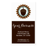 Brown acorn seal custom business cards