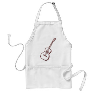 Brown Acoustic Classical Guitar Adult Apron