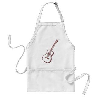 Brown Acoustic Classical Guitar Adult Apron
